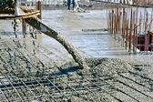 Fotografie beton lití v komerční stavby