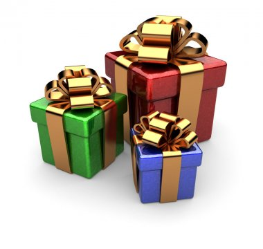 Gift box made in 3D