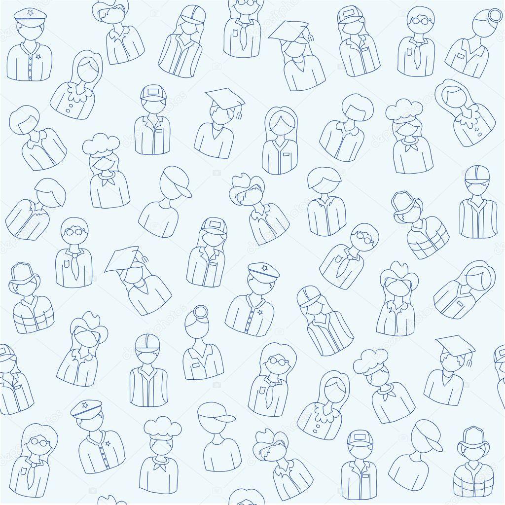 Hand Drawn Seamless Icon Set