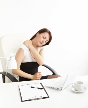 Business woman with back pain
