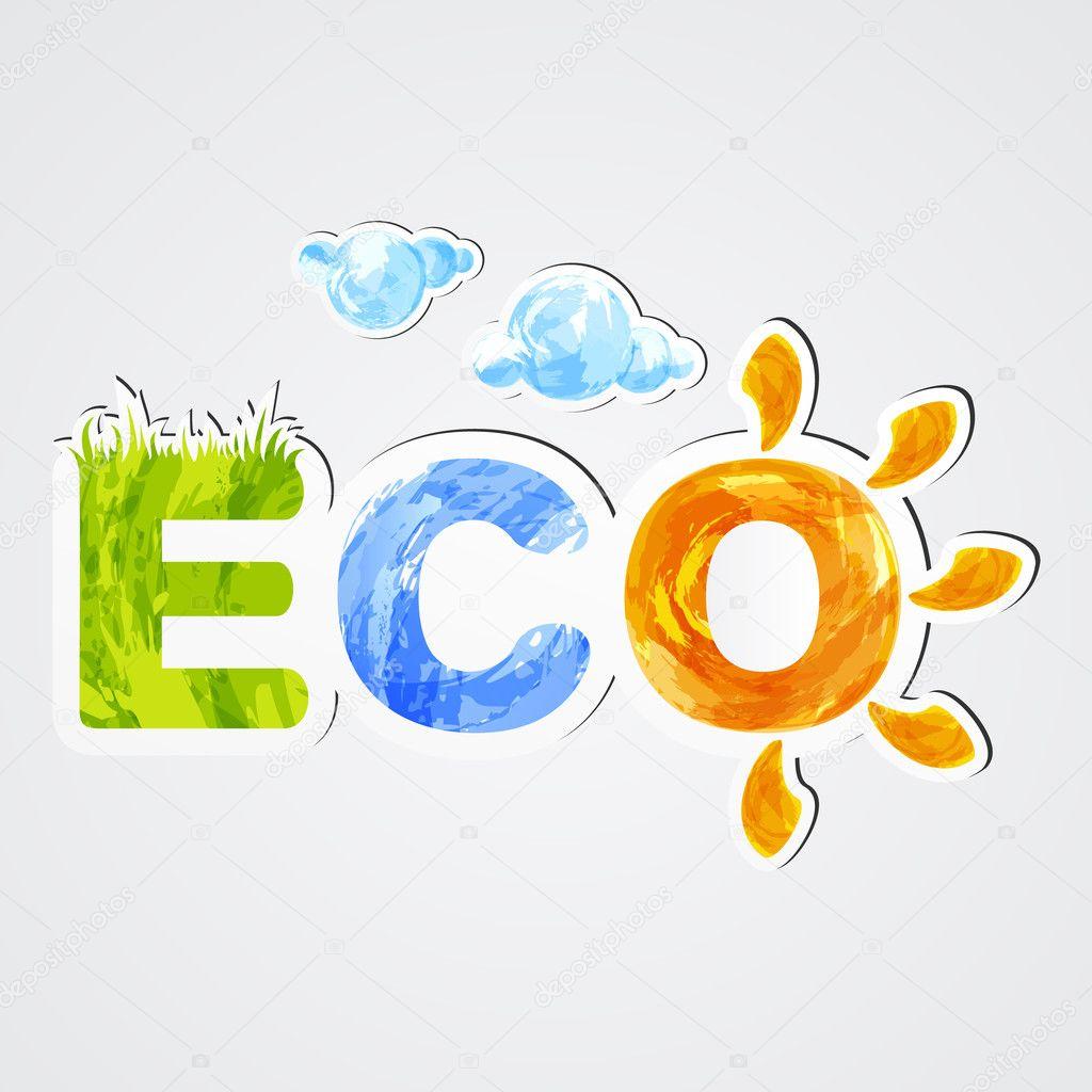 Eco. Environmental icon