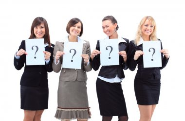 Group of unidentifiable business women