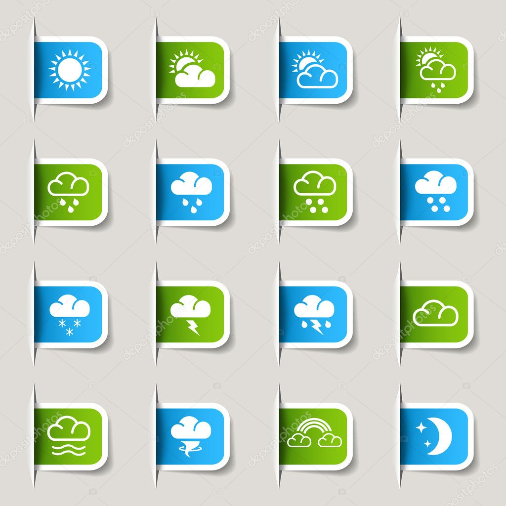 Label - Weather icons