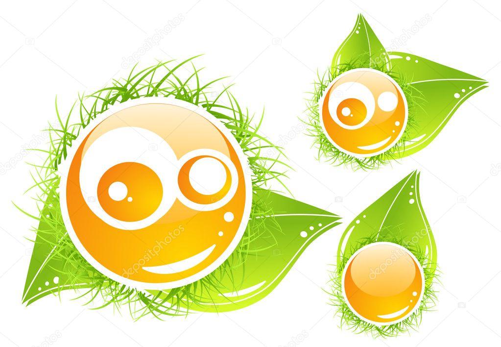 Vector nature emoticon