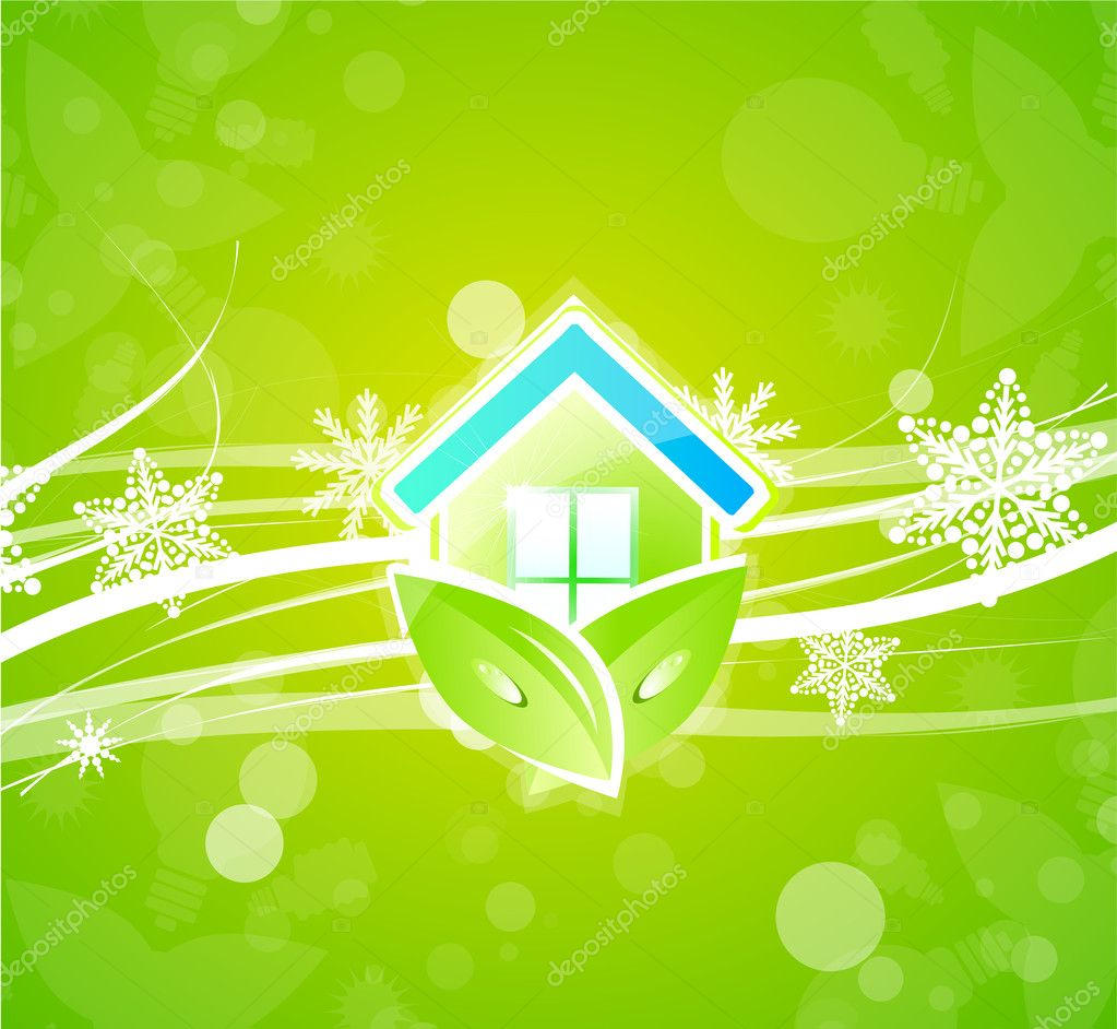 Eco nature home christmas background