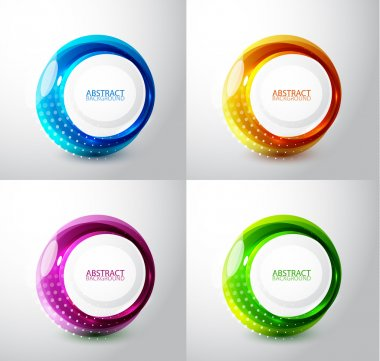 Vector techno circles backgrounds with sample text stock vector