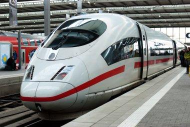 Modern Fast Passenger Commuter Train in the Station