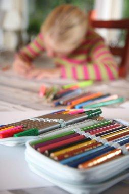 Child reading writing