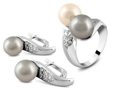 Jewelry set isolated on white
