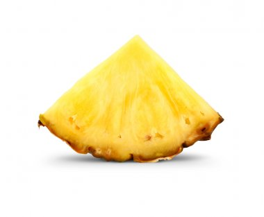 Pineapple slice isolated on white