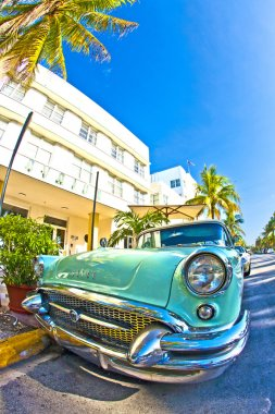 The old Buick from 1954 stands as attraction in front of famous