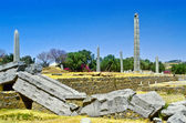 Stele in the northern field at Axum in Ethiopia