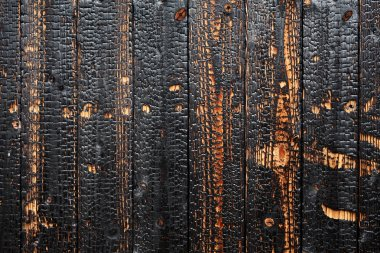 Burnt wood background