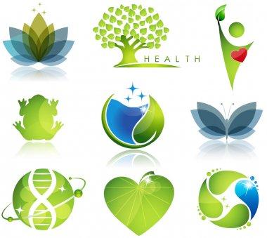 Wellness and ecology symbols