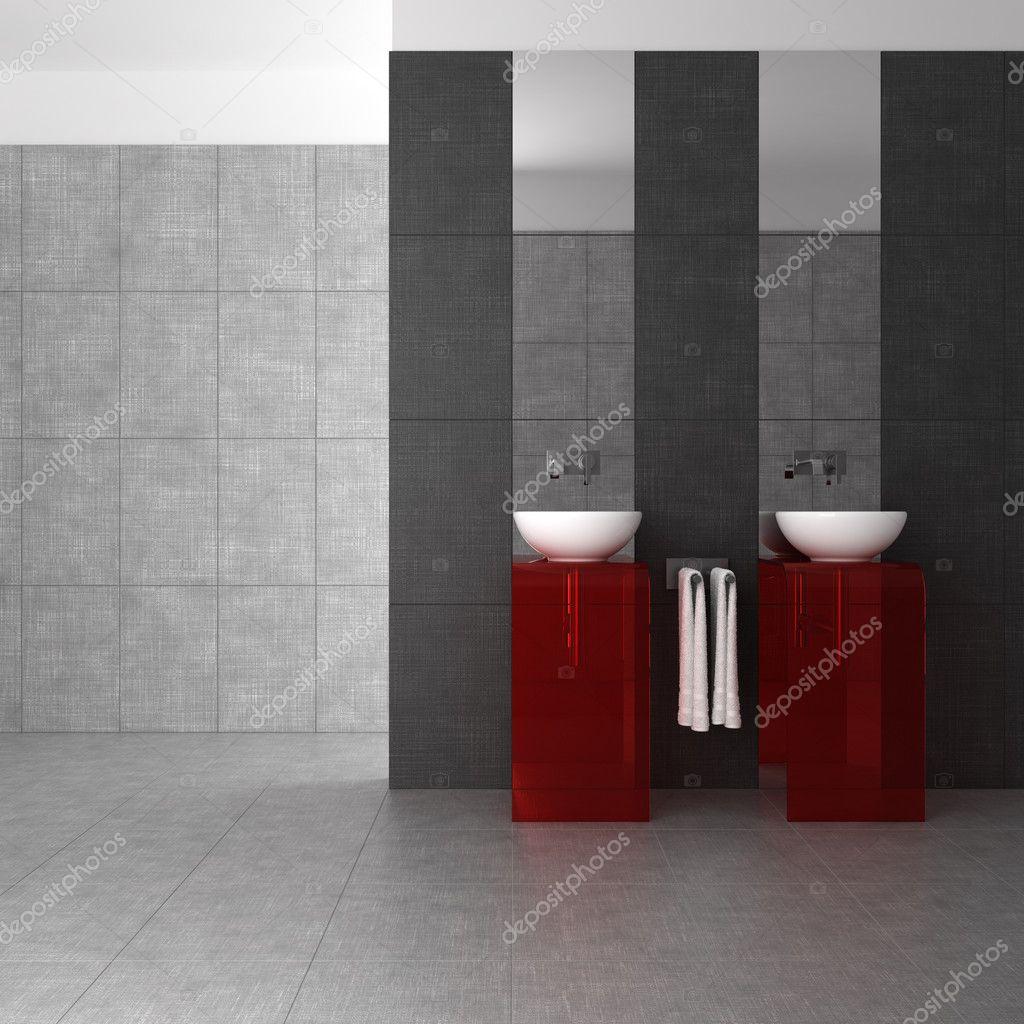 Ba o con doble lavabo y vidrio muebles fotos de stock - Muebles de bano con lavabo de cristal ...