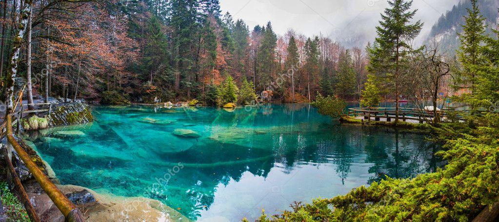 blausee schweiz or the blue lake in switzerland photo by akulamatiau wandern
