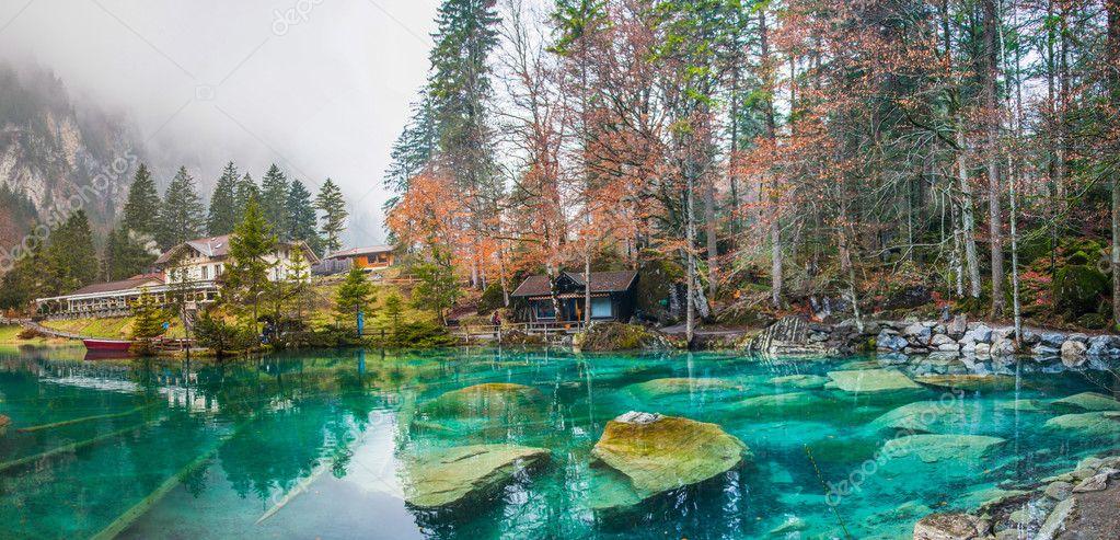 blausee schweiz or the blue lake in switzerland photo by akulamatiau schwimmen