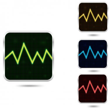 Cardiogram for medical and music stock vector