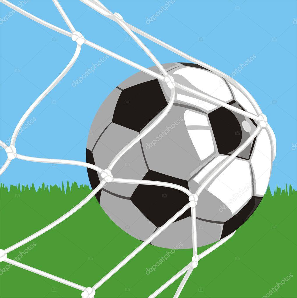 ball im tor  fußball — stockvektor © ciuciumama 8270517