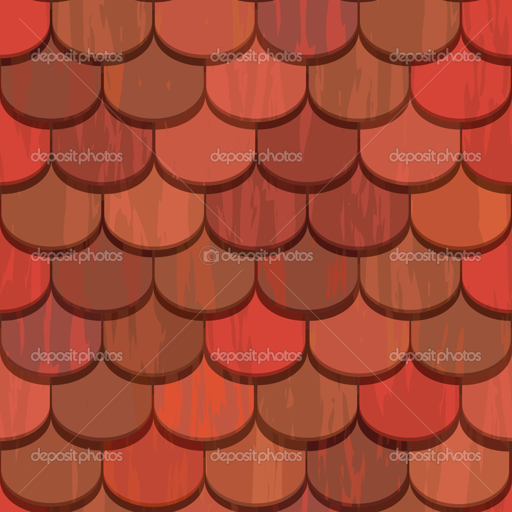 Seamless Red Clay Roof Tiles Stock Vector 169 100ker 10491188