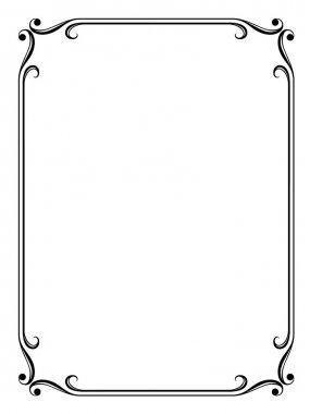 Vector simple calligraph ornamental decorative frame pattern clip art vector
