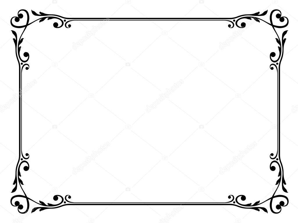 Calligraphy ornamental decorative frame with heart — Stock Vector ...