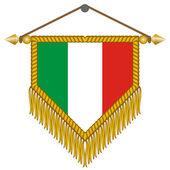 Vektor vlajka s vlajka Itálie