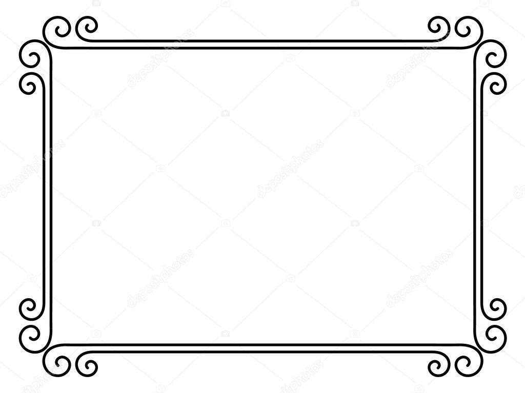シンプルな装飾的な装飾的なフレーム ストックベクター 100ker 8521221