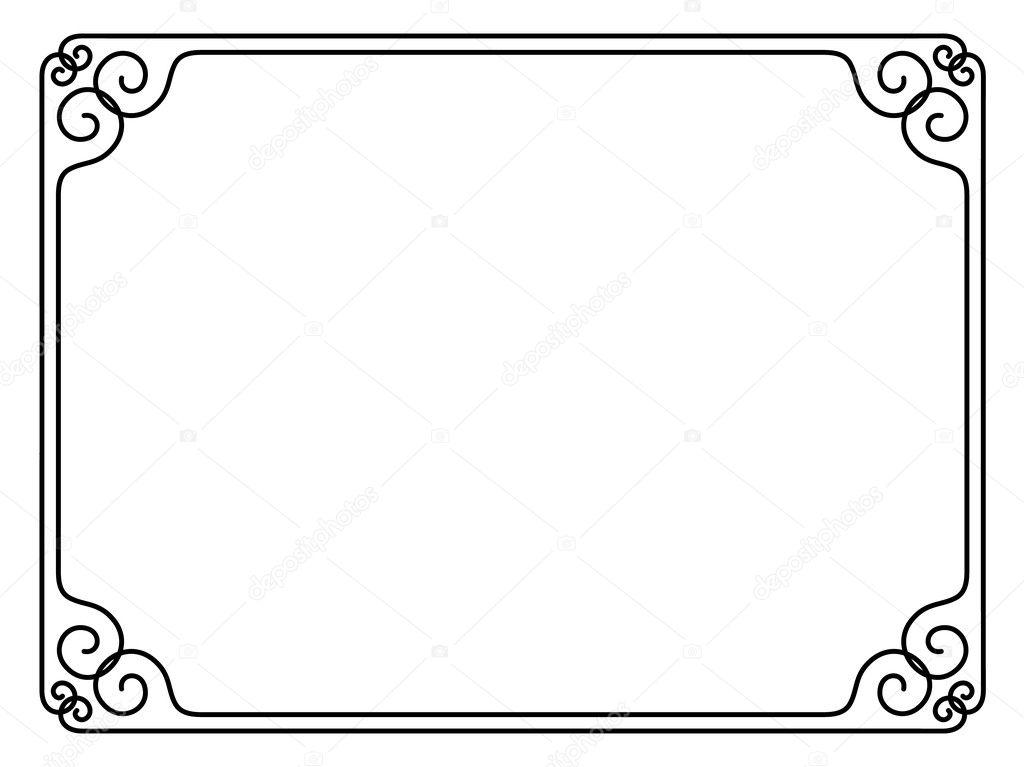 marco decorativo ornamental simple — Archivo Imágenes Vectoriales ...