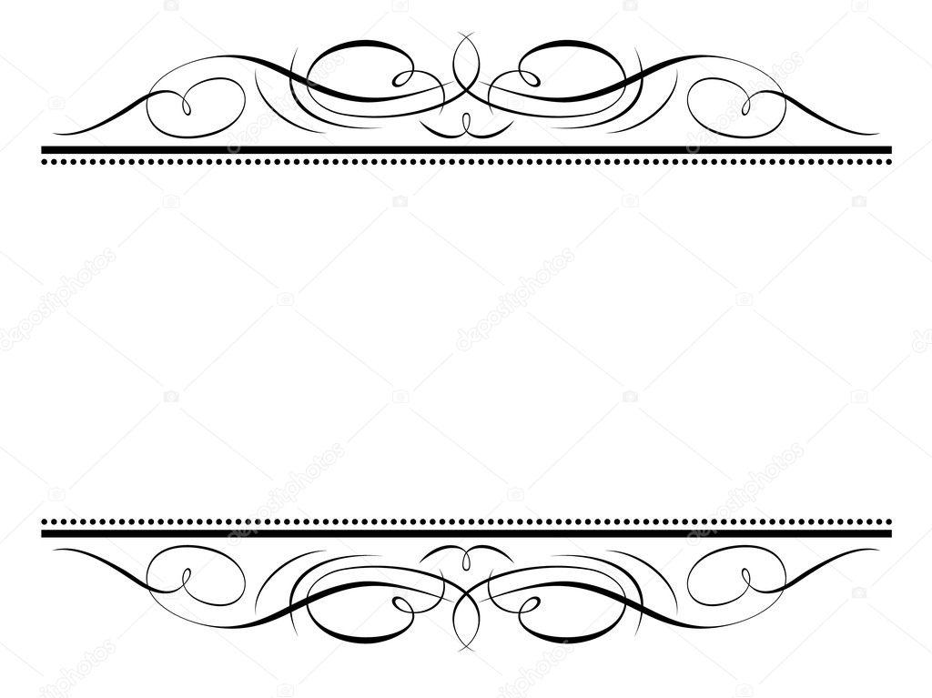 caligrafía viñeta marco decorativo caligrafía ornamental — Archivo ...