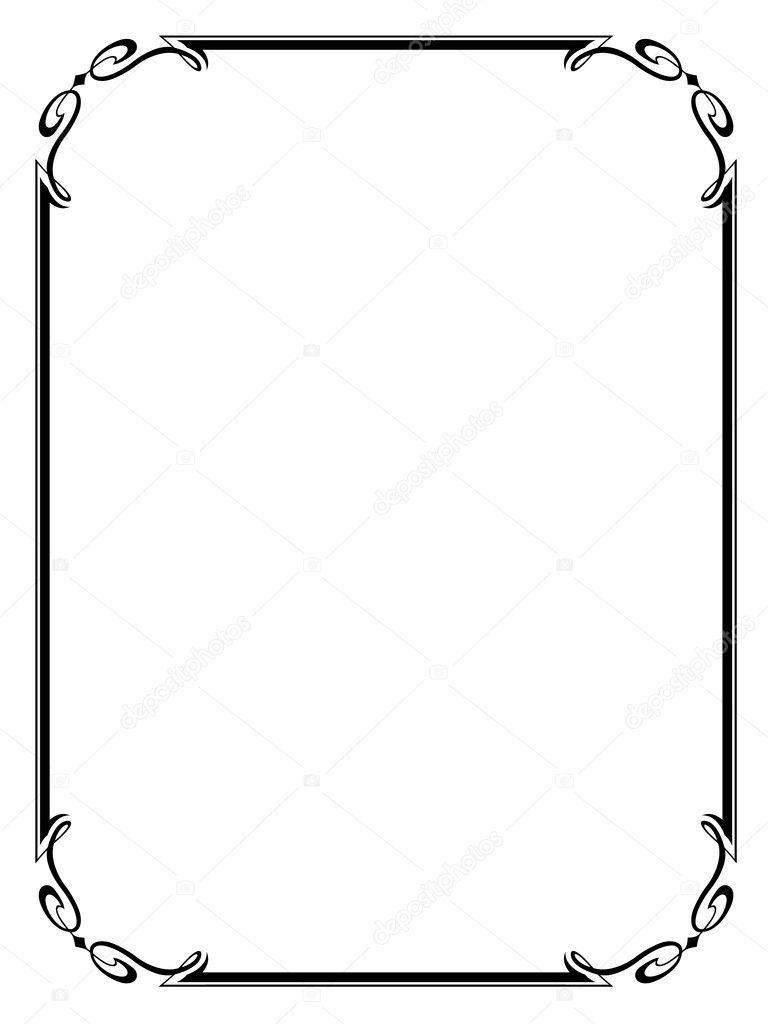 シンプルな装飾的な装飾的なフレーム — ストックベクター © 100ker #8798613