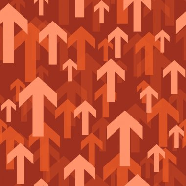 Flying arrow seamless background pattern