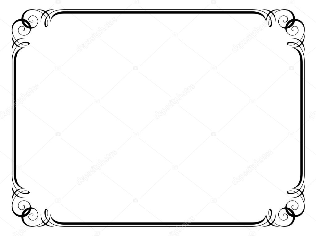 calligraphy ornamental decorative frame stock illustration