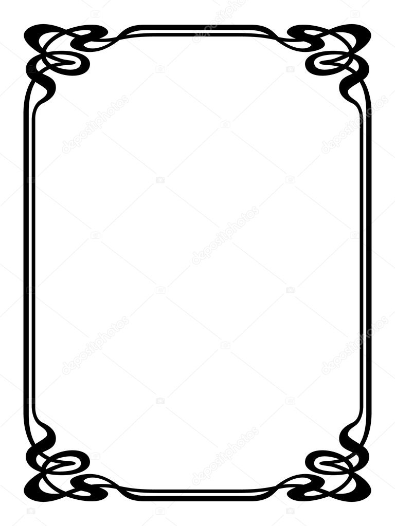 art nouveau ornamental decorative frame stock vector 100ker 9228387 rh depositphotos com art nouveau vector pattern art nouveau victor horta brussels