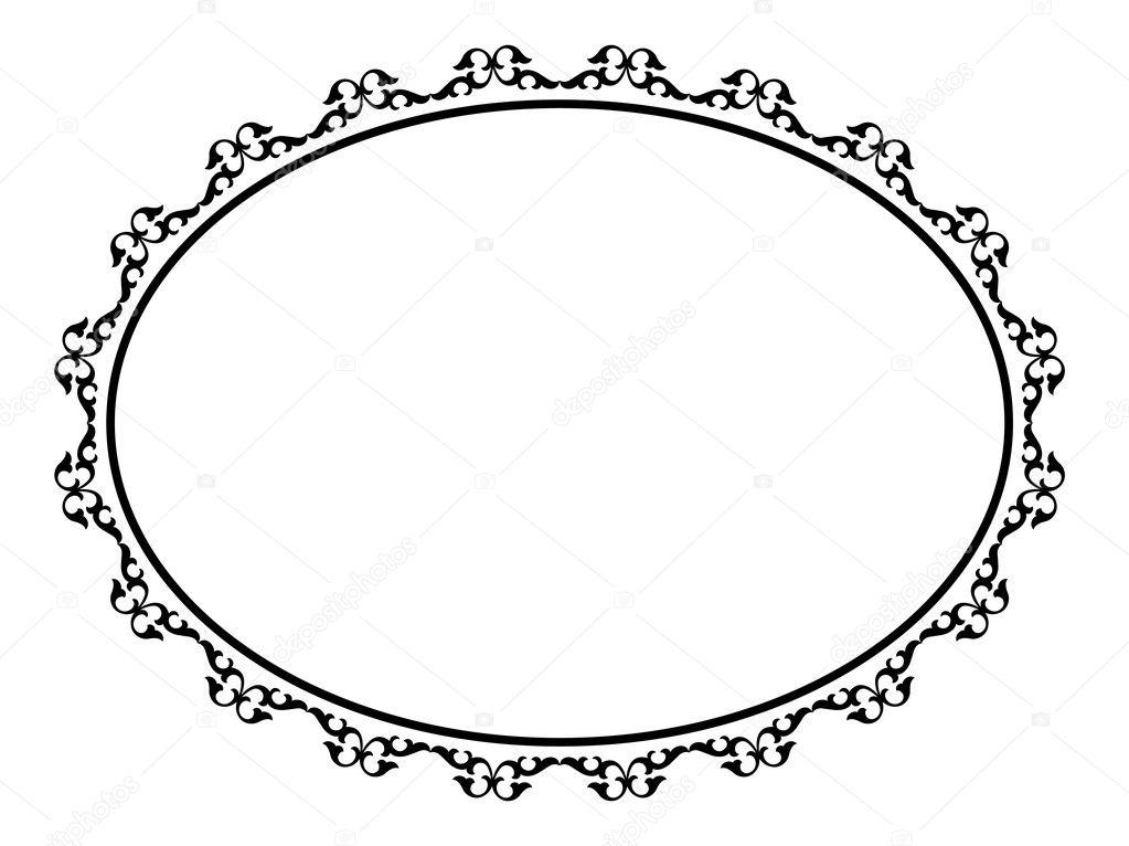 Oval ornamental decorative frame