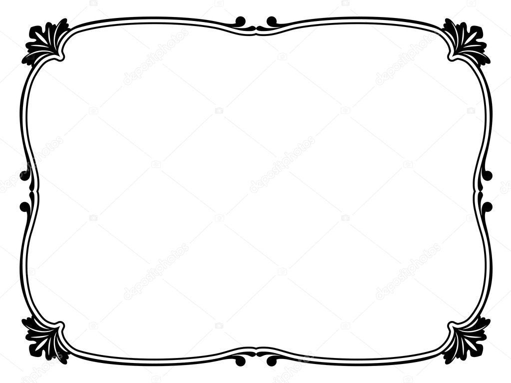 marco decorativo ornamental simple — Vector de stock © 100ker #9338049