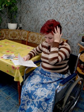 The woman-invalid was surprised, having seen accounts on housing and commun