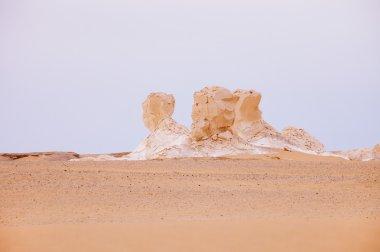 The limestone formation rocks in the Western White Desert, Egypt