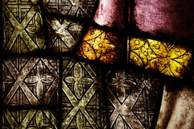 Old dirty stained glass background