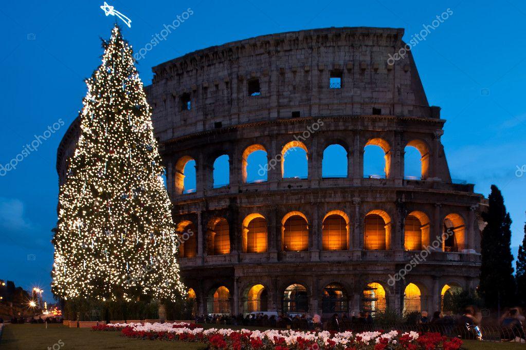 Weihnachten-Kolosseum — Stockfoto © lcorsetti #8093368