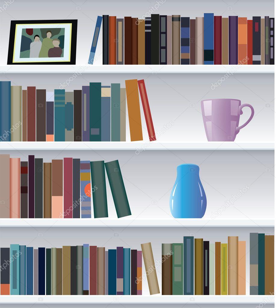 Modernes Bücherregal vektor modernes bücherregal stockvektor dmstudio 10551631