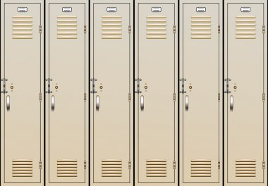 Vector school lockers