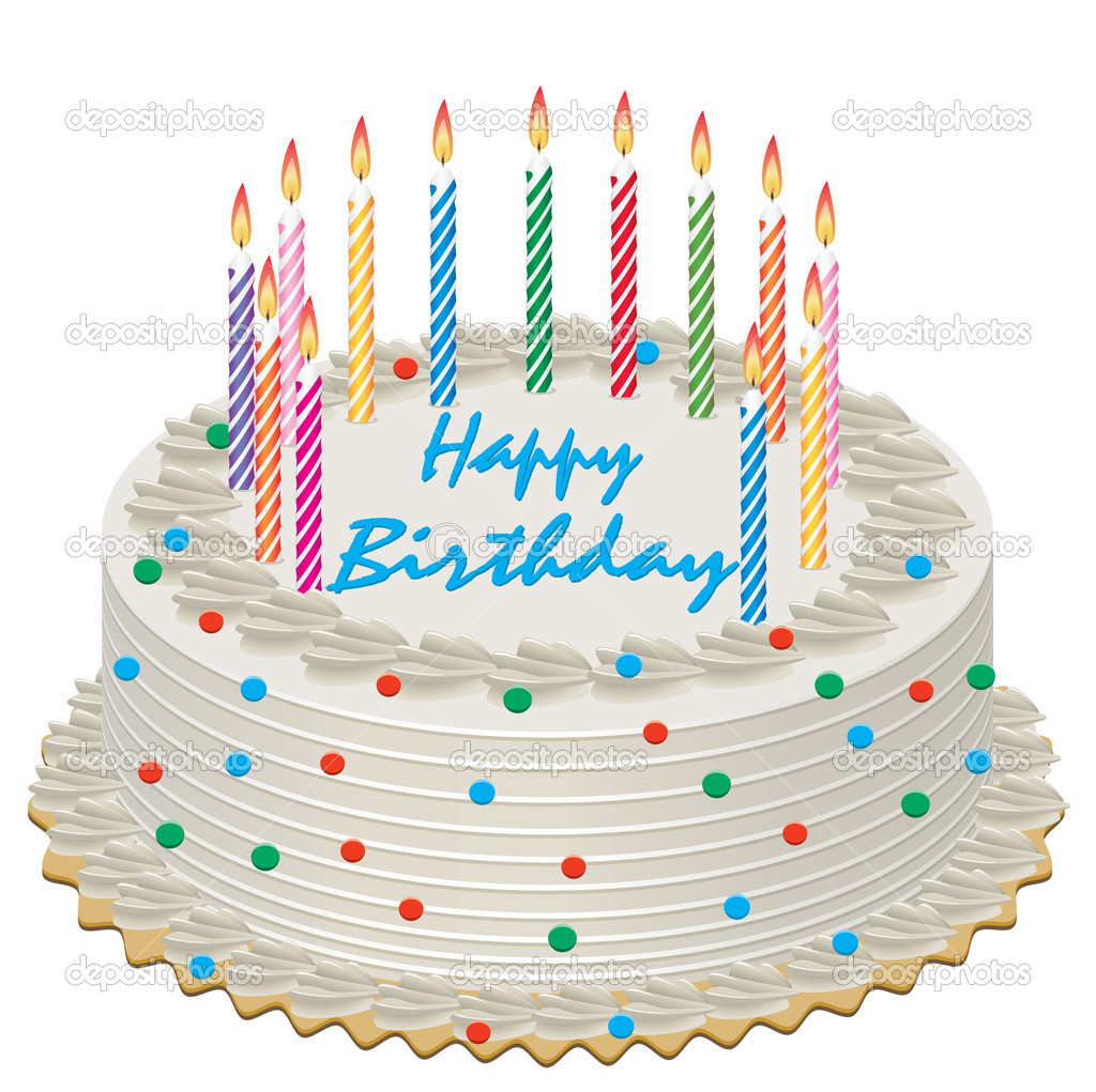 Vector birthday cake Stock Vector dmstudio 8718680