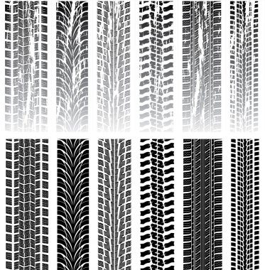 Vector set of tire prints