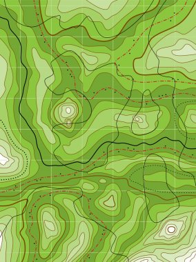 Vector abstract topographical green map
