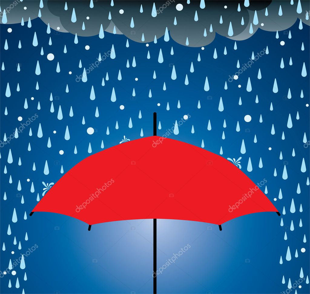 Vector umbrella protection from rain and hail