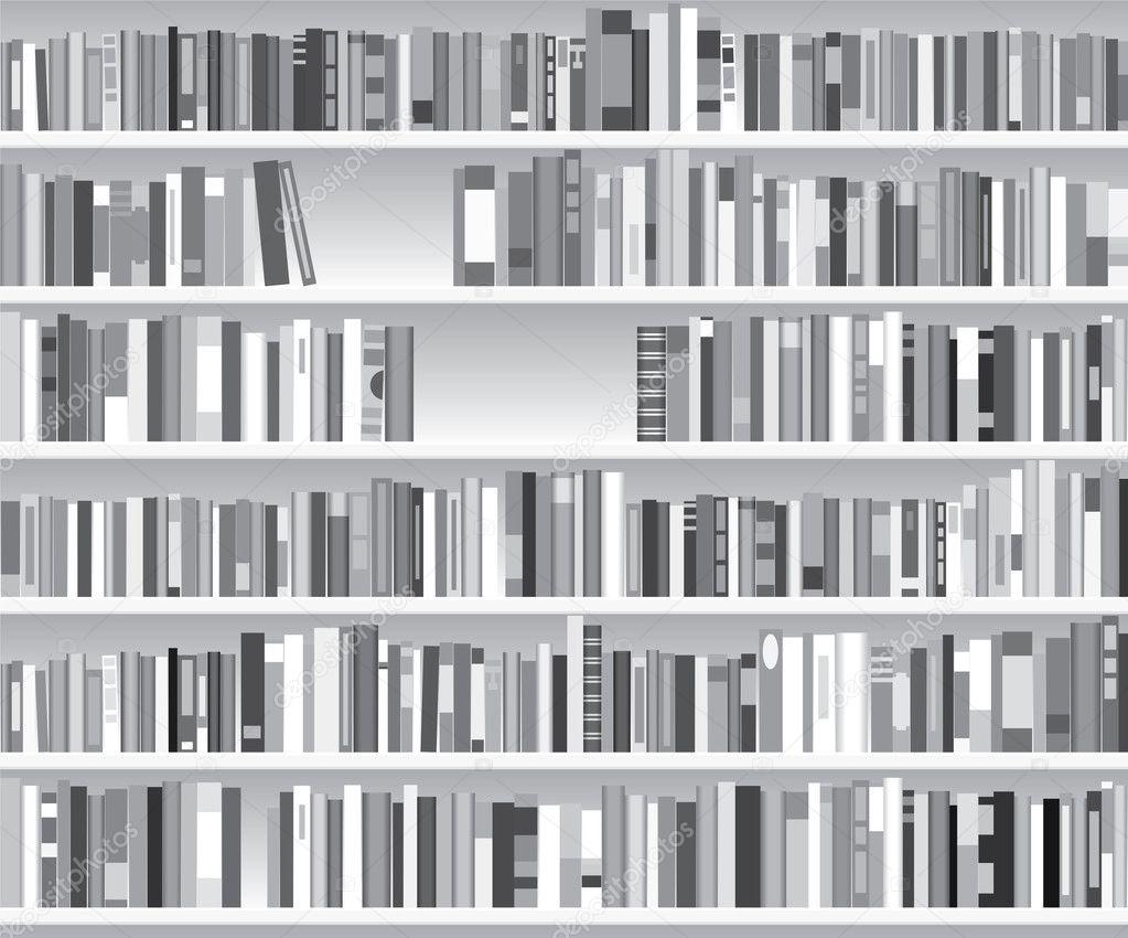 Vektör modern kitaplık — Stok Vektör © dmstudio #9144856