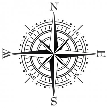 Vector black compass