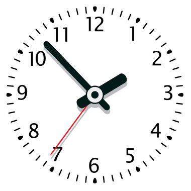 Vector illustration of a clock stock vector