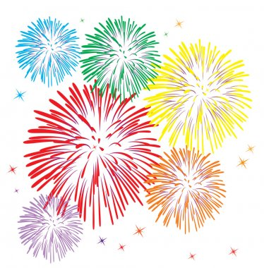Vector colorful fireworks